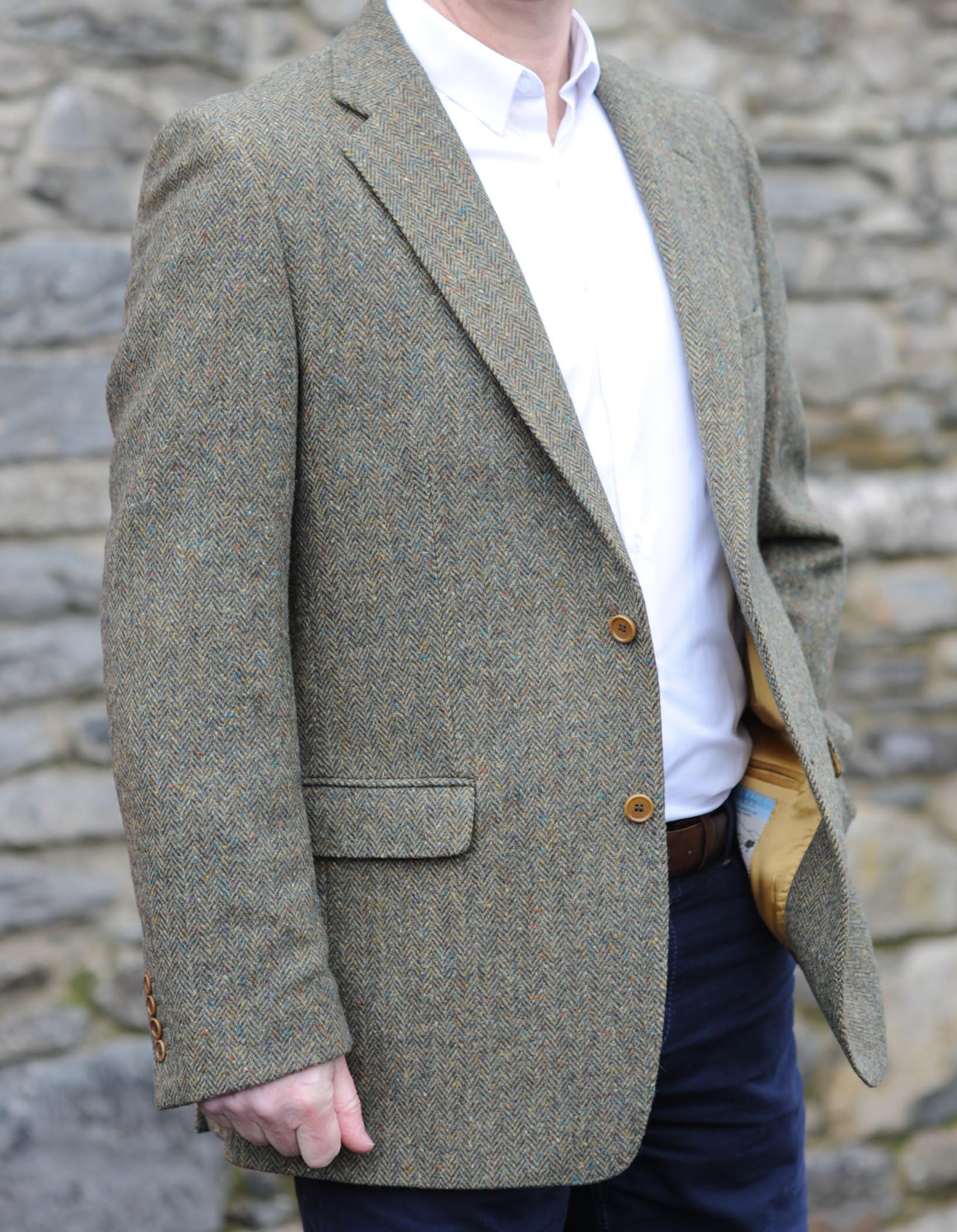 Kerry Herringbone Weave Tweed Jacket