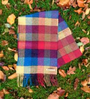 Glen Check Lambswool Scarf