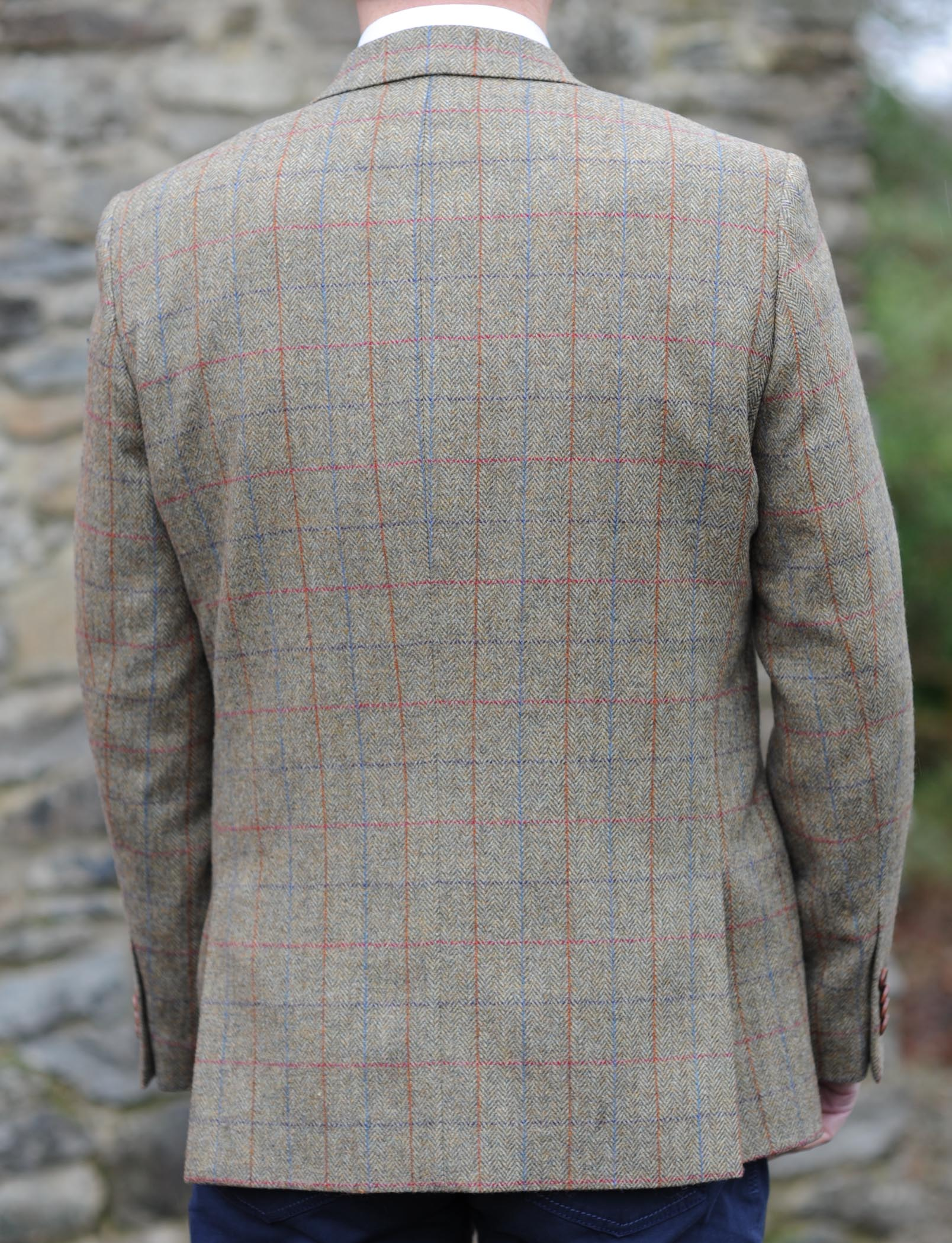 Glendalough Country Check Donegal Tweed Jacket Back