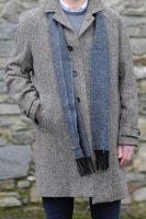 Dublin Herringbone Donegal Tweed Overcoat Oatmeal