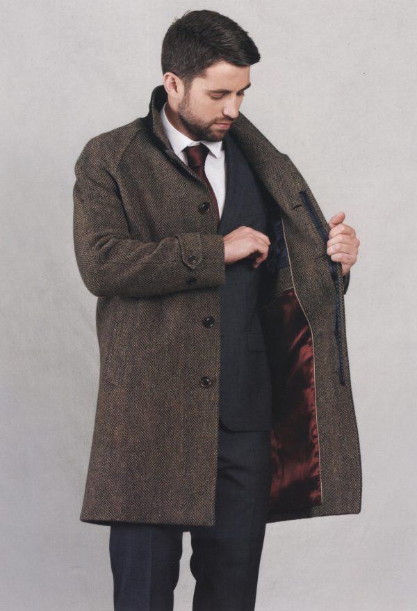 Dublin Tweed Overcoat - Bracken