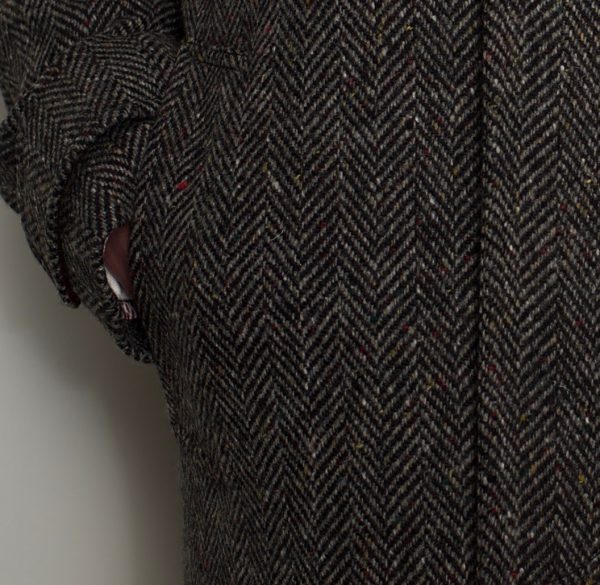 Dublin Tweed Overcoat Charcoal Fleck