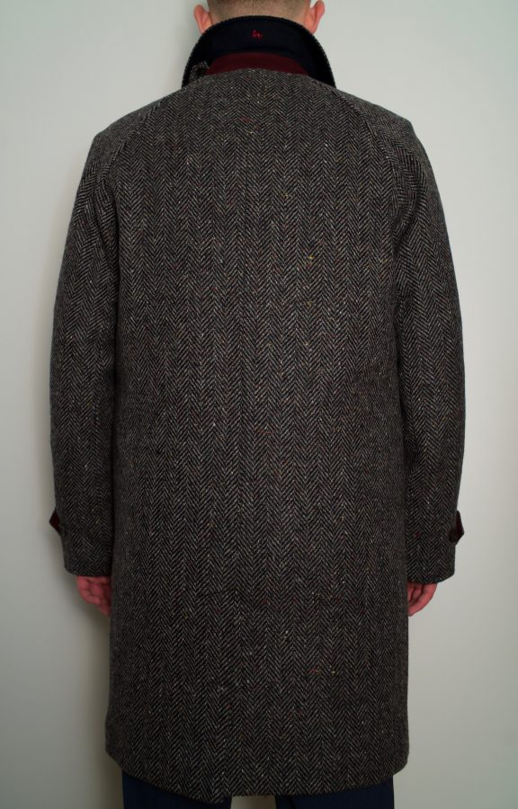 Dublin Tweed Overcoat Charcoal DSC
