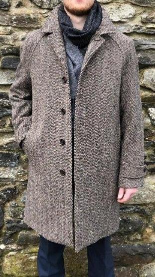 Dublin Tweed Overcoat Oatmeal