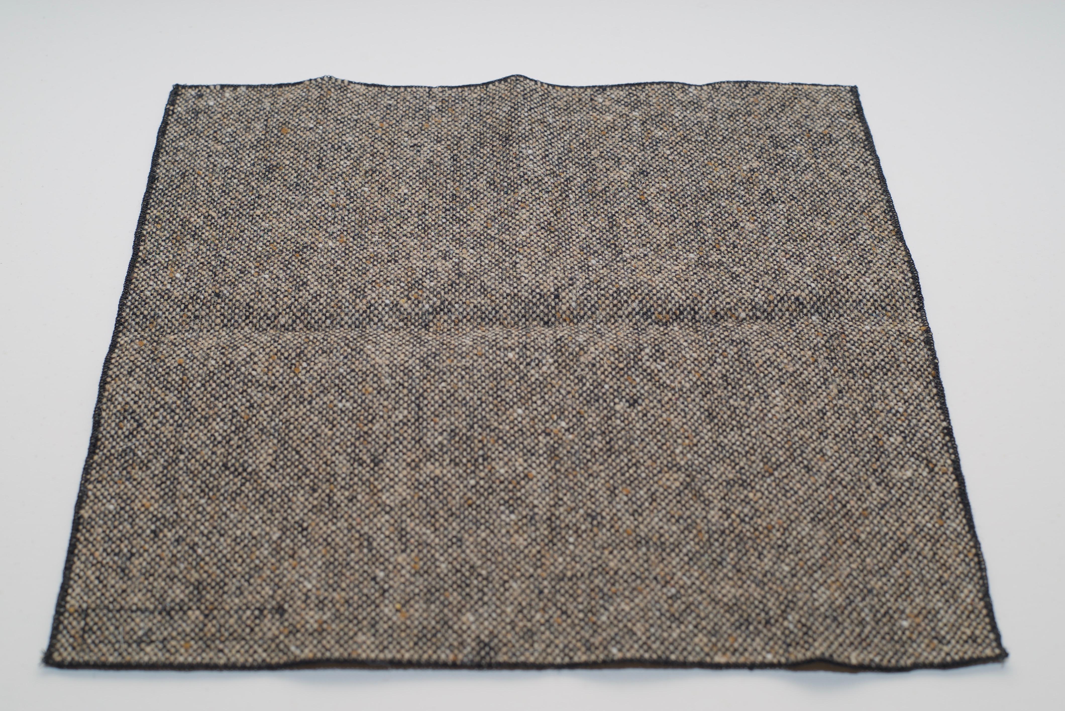 Donegal Tweed Pocket Square Oakwood