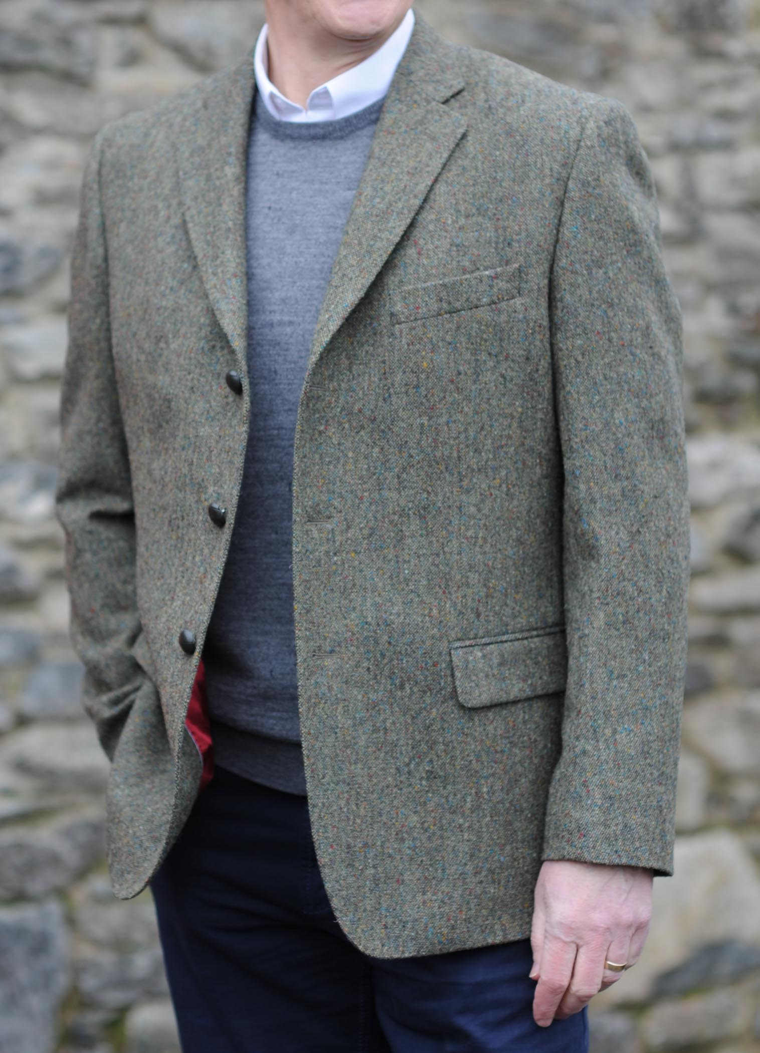 Glanmire Button Traditional Tweed Jacket