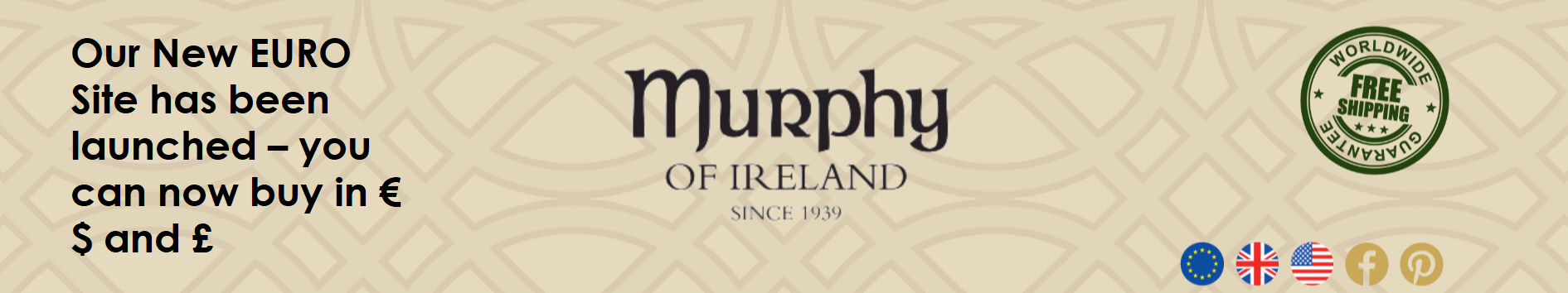 Murphy of Ireland EU Header launch