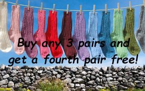 Irish Donegal Tweed Socks